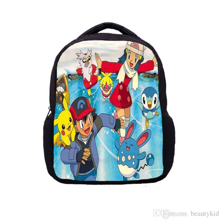 18 Styles Cartoon Anime Poke Go Backpack Pikachu School Bag Canvas student Bags Anti Water Boy Girls Schoolbag PKC041