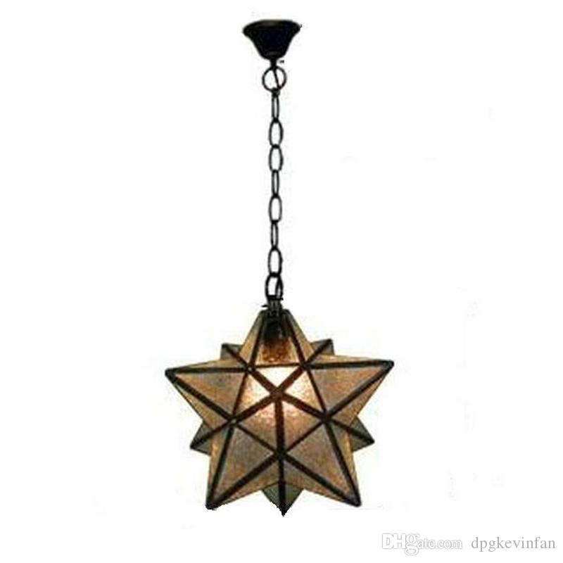 discount industrial vintage glass monrovian moravian star ceiling pendant light fixtures for kitchen bar