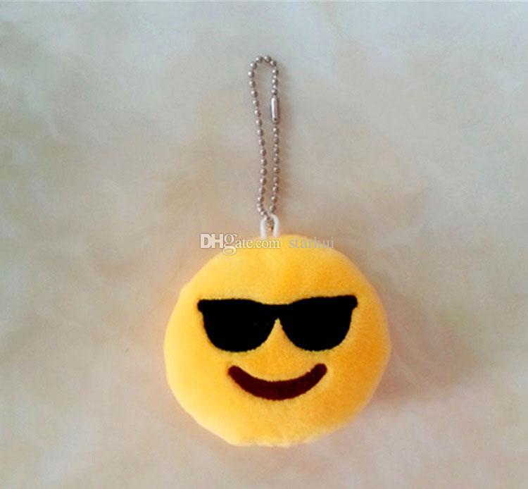 Emoji QQ Peluches Porte-clés Jeu D'action De Bande Dessinée Figure Pendentif Porte-clés Cellulaire Téléphone Mobile Farcies Porte-clés Jouets Cadeau 10 * 10 * 2 cm WX-T49