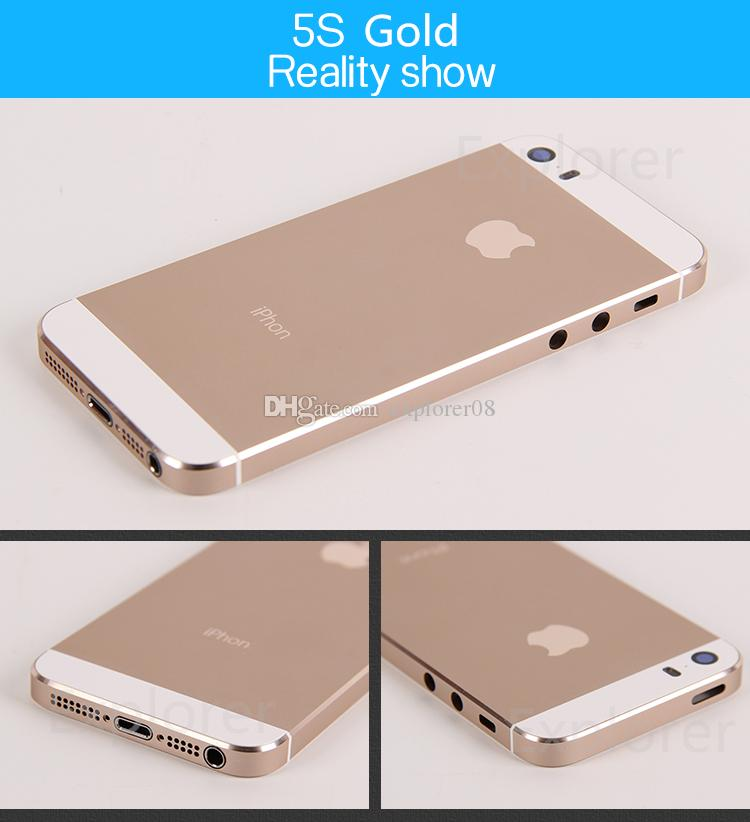 for iPhone 5 5G 5s Full Housing Back Cover Battery Cover with Side Buttons Cables and Small Parts Assembly Replacement parts