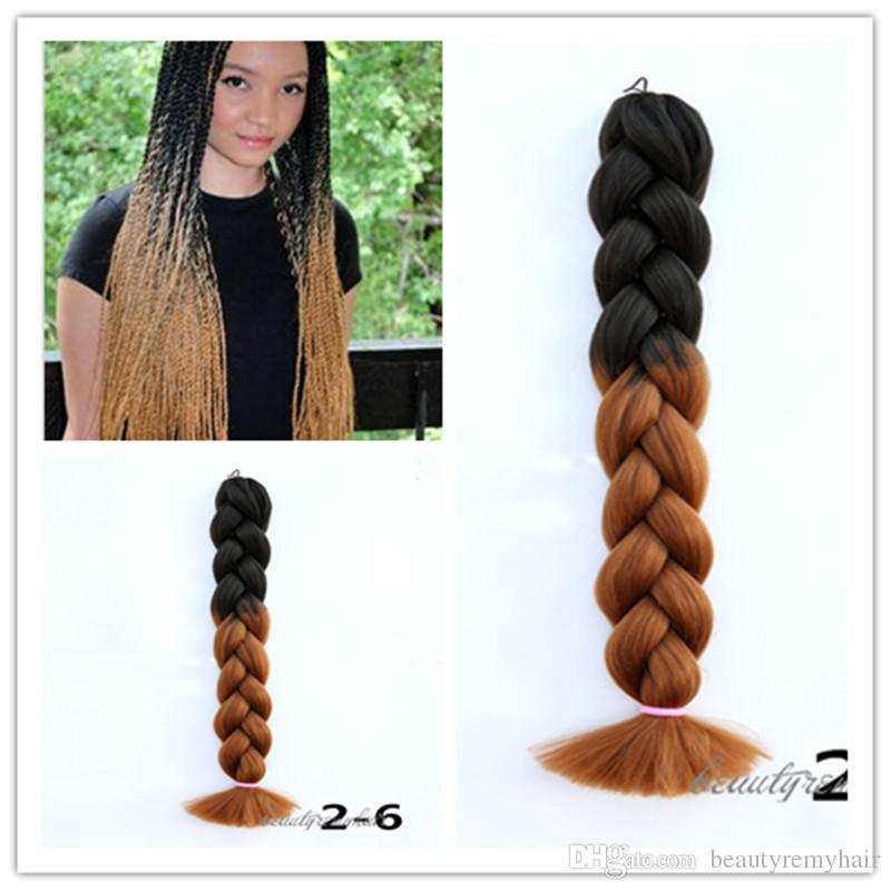Wholesale 2016 hot selling ombre braid folded synthetic hair wholesale 2016 hot selling ombre braid folded synthetic hair extensions 100 kanekalon jumbo braiding hair 24 ombre synthetic hair more colors 24 inch hair pmusecretfo Choice Image