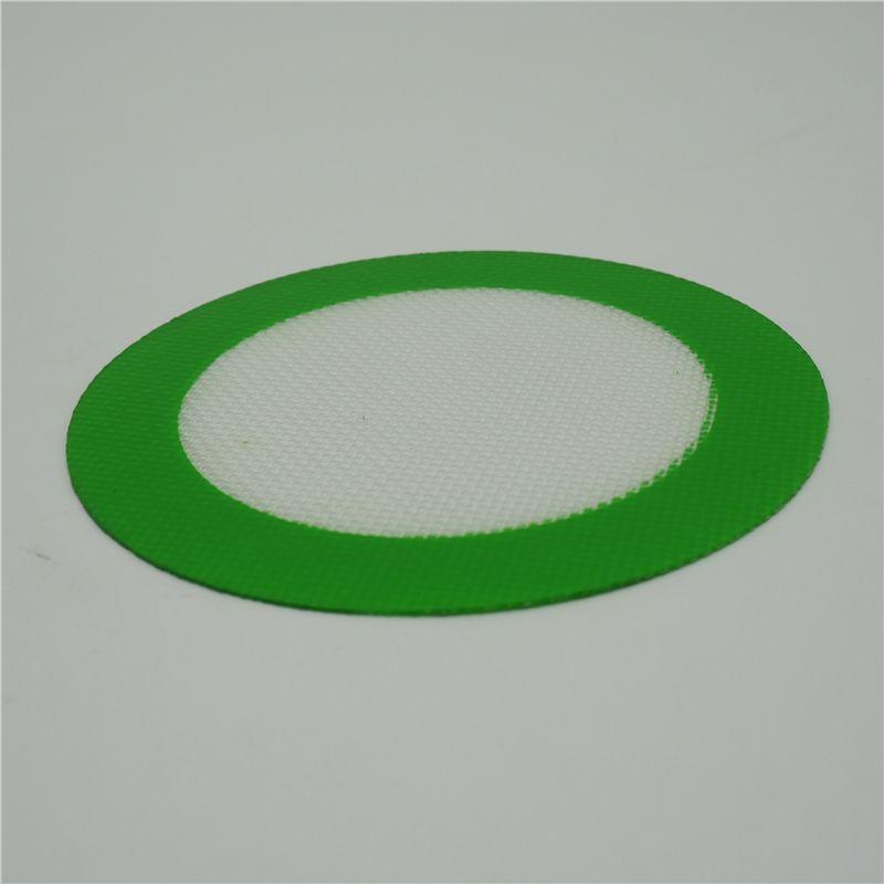 Jakość FDA Klasa żywności wielokrotnego użytku Koncentrat BHO Wosk Slick Oil Round Heat Odporność szklanki Silikonowa Dąb Pad Mata