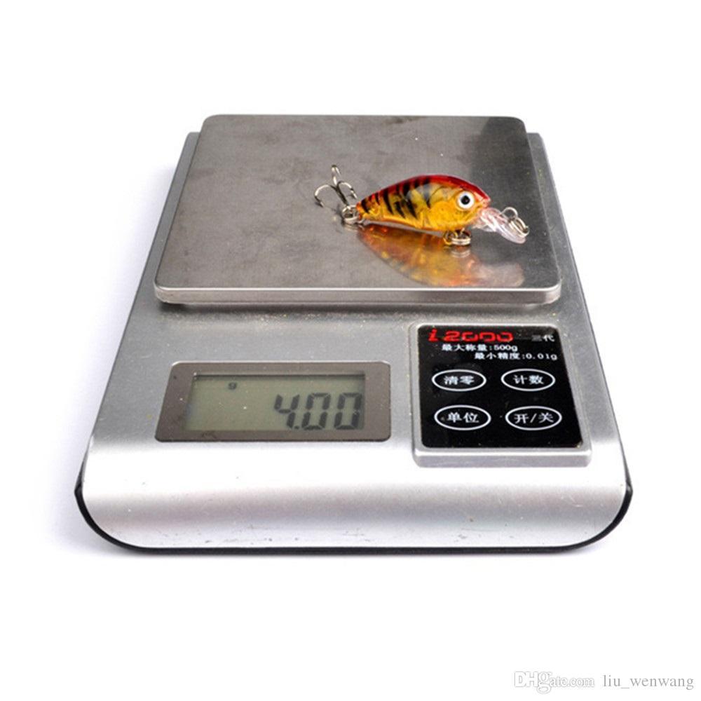 9 색 45mm 4G 크랭크 낚시 후크 10 # 후크 3D 눈 하드 미끼 미끼 PESCA 낚시 태클 액세서리 LW-11