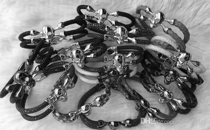 BC Nuovo bracciale stingray fatto a mano alla moda, bracciale in vero pitone, bracciali in vera pelle di serpente,