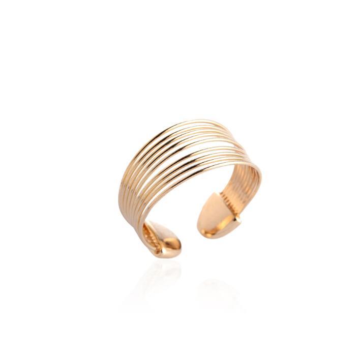 Großhandel R31 2015 Neue Mode Gold Silber Multilayer Persönlichkeit ...