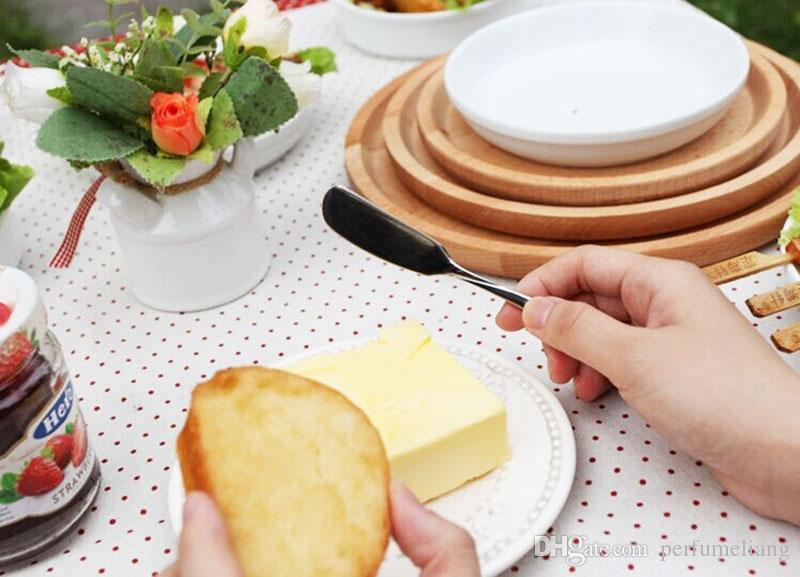 Оптовая нержавеющей посуда Столовые приборы нож для масла сыр десерт Джем разбрасыватель завтрак инструмент 2016 новые столовые приборы ZA0456