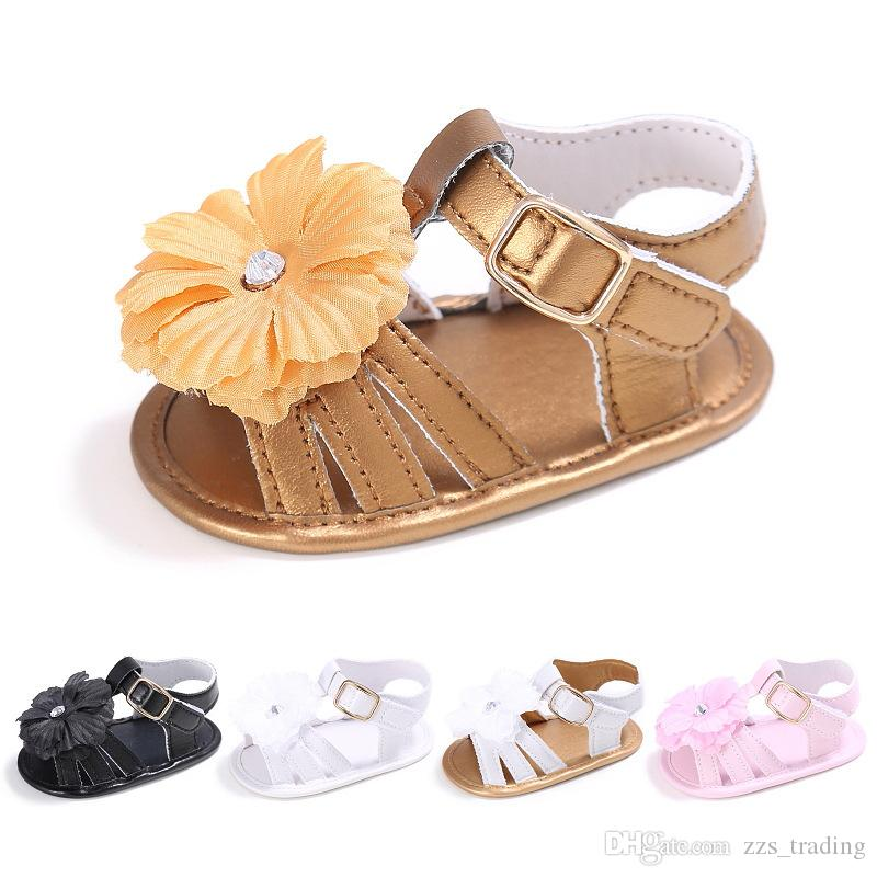 d8e7ff4454c3b6 2019 Cute Baby Shoes For Girls Soft Moccasins Shoe 2018 Summer Flower Baby  Girl Sneakers Toddler Boy Newborn Shoes First Walker From Zzs trading