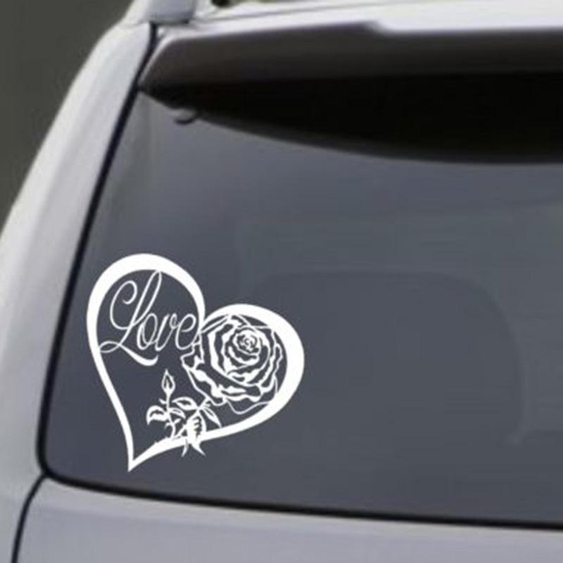 2018 love heart rose vinyl decal sticker car window wall bumper laptop symbol from xymy787 2 92 dhgate com