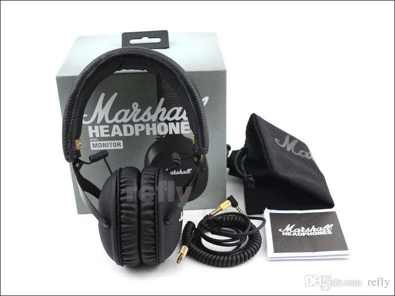 2016 New Marshall MONITOR Headphone Over-Ear Headphones w Microphone HIFI Headset VS Marshall Major II Studio 2.0