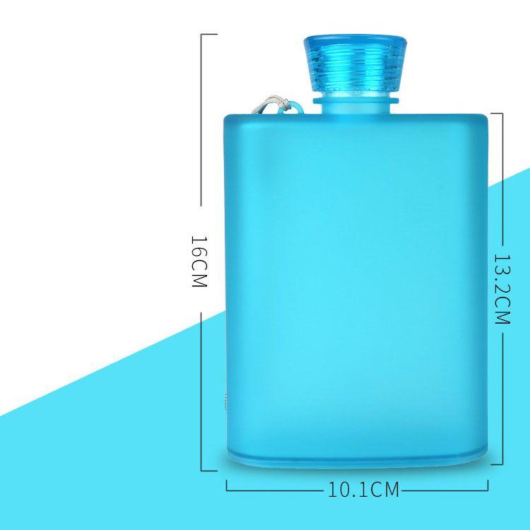 Neueste bereifte Wein-Schalen-400ML kreativer tragbarer Flachmann-Flaschen-Nahrungsmittelgrad AS Plastik-Spielraum-Becher im Freien 6 Farbe geben Verschiffen frei WX-C37