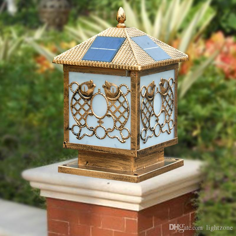 2019 Bronze Finish Gardon Solar Power Led Post Lights Post Cap With