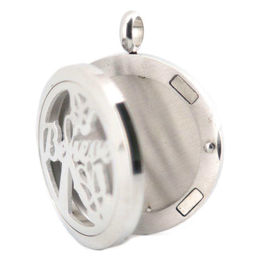 Серебро считаю 316 нержавеющей стали ожерелье кулон аромат 30 мм медальон эфирные масла диффузор медальоны медальоны бесплатно 50 шт. войлочные прокладки в подарок