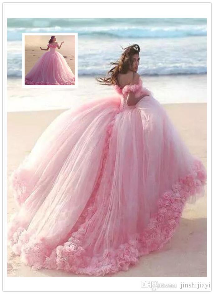 Compre De Lujo 2017 Princesa Cenicienta Formal Vestidos De Boda ...