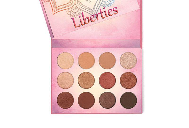 2017 Nueva Marca Aurelife Liberties Powder Pake Nake Shadow Palette Shimmer Shimmer es Paleta de Sombras de Ojos Calor Sombra de Ojos