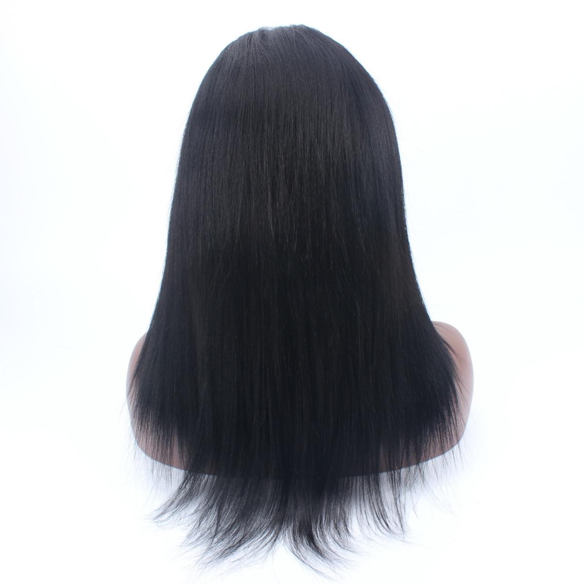 Promotion Lowest Price 150% density hot style Front Lace Human Hair Wigs Virgin Hair yaki Brazilian human lace wigs For Black Women