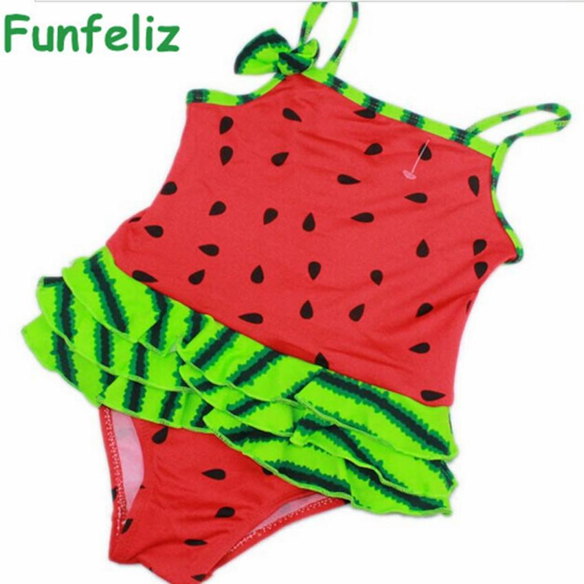464eab7b83 2019 Wholesale Children Girl Swimwear Baby Girl One Piece Swimsuit  Watermelon Print Bathing Suit For Girls Kids Swimming Suit 1 5 Age From  Vanilla04, ...