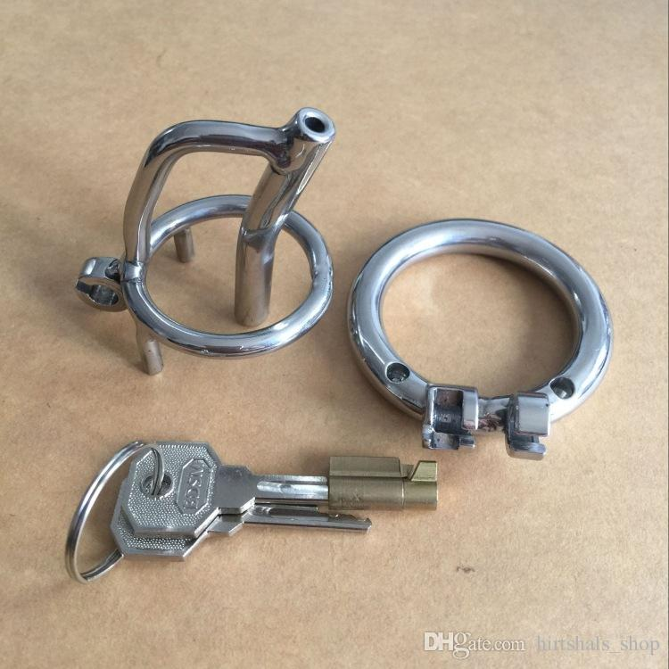 Magic lock new chastity devices with sounds urethral 35mm cage length stainless steel small chastity cb 1.4""