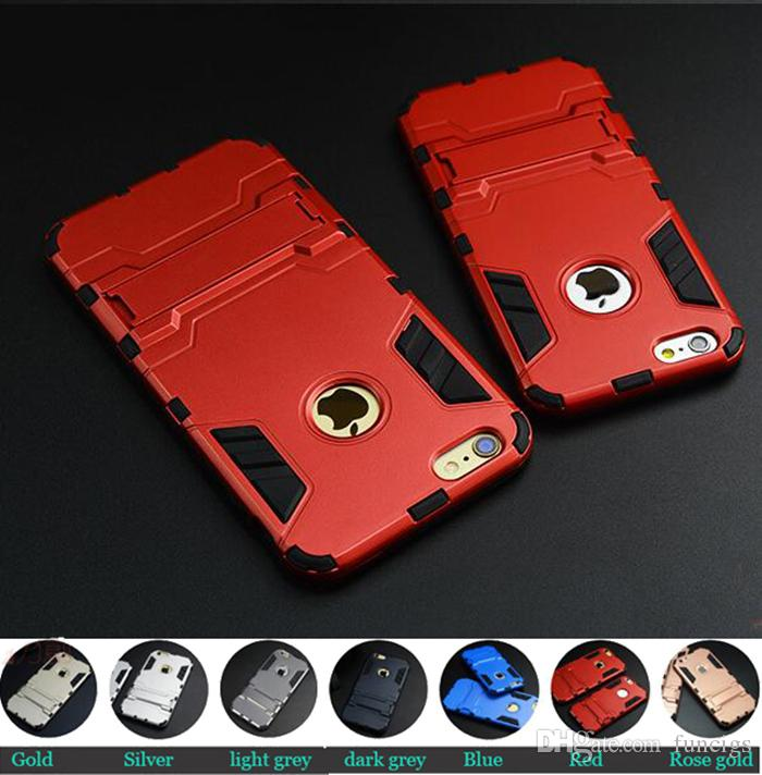 New Arrival Kickstand Cell Phone Iron Man Armor Case for iPhone 6/6s Protective Mobile Cover Case