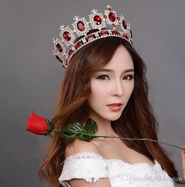 Crown bridal tiaras Crystals Wedding Crowns Crown princess big full of luxury CrownHeadband Hair Accessories Party Wedding Tiara HT137