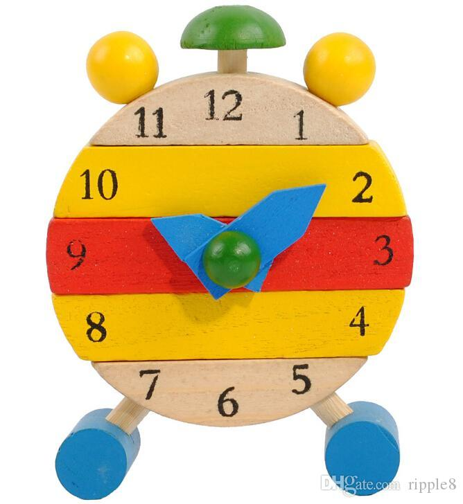 14b84bc6c42 Whole Sale Color Removable Wooden Clock. Fun Can Be Assembled Wooden Puzzle  Educational Toys For Children Wooden Educational Toys Artificial  Intelligence ...