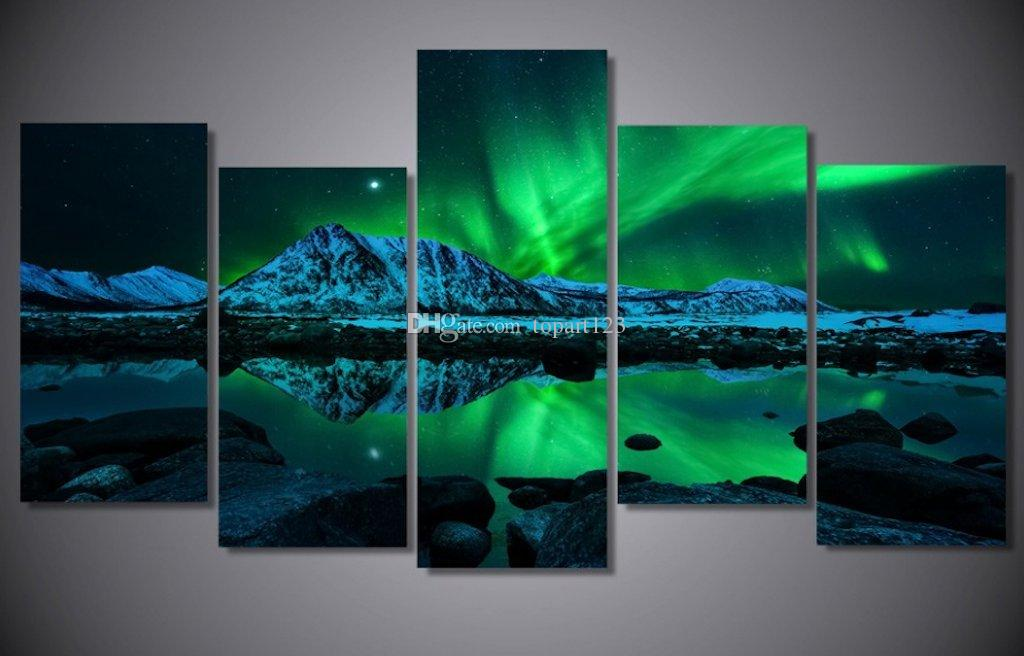 Compre Azul Verde Moderno Aurora Borealis Islandia Jokulsarlon ...