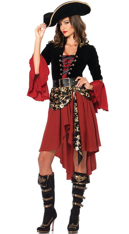 2017 New Product Female Money Pirate Halloween Costume For Cosplay ...