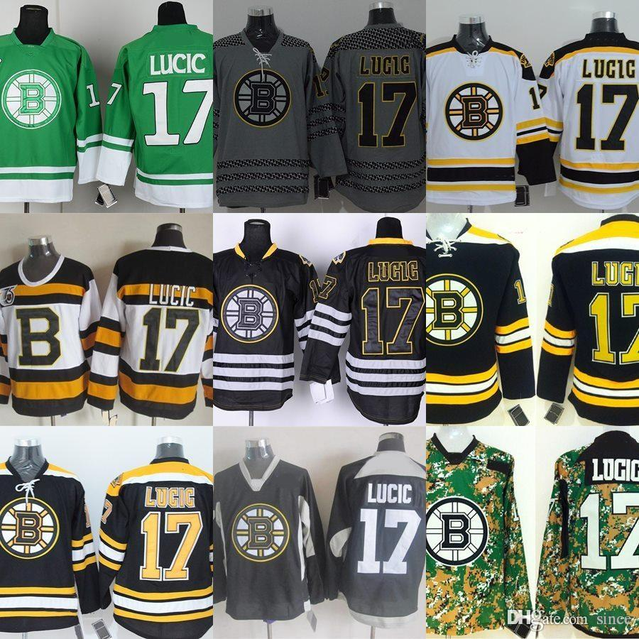 ... nhl jersey popular 5bedf dd85f  denmark 2018 factory outlet mens boston  bruins 17 milan lucic camo green grey black white yellow afe85475f