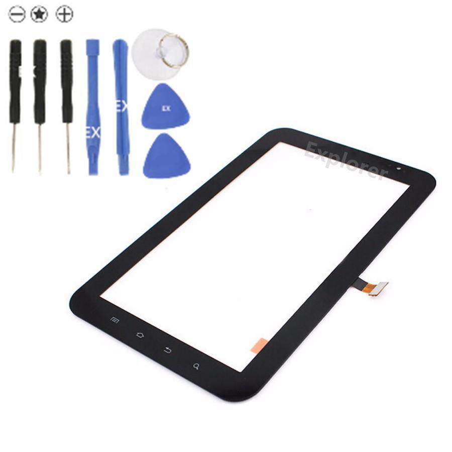 OEM Pour Samsung Galaxy P1000 Tab 2 7.0 P3100 P3110 P3113 VS Plus P6200 Écran Tactile Digitizer Lentille En Verre + Adhésif Remplacement