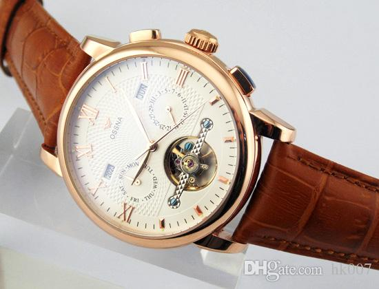 1624 Ossna 42mm Stainless Steel Rose Gold Case White Dial Men's Automatic Watch Gift For Men