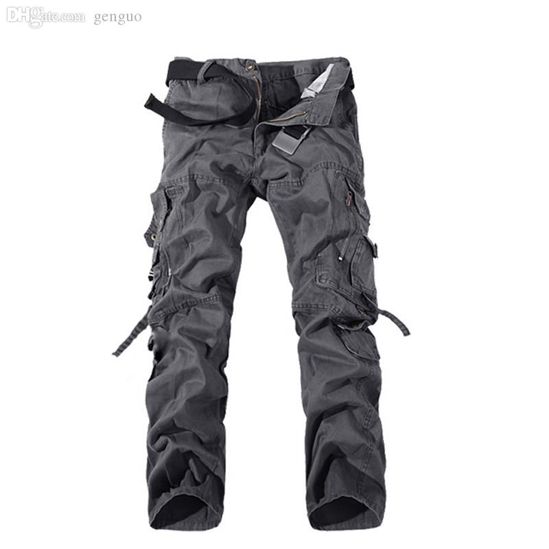 0760f0ea7f1 Wholesale-2016 Brand Fashion Mens Straight Trousers Casual Combat ...