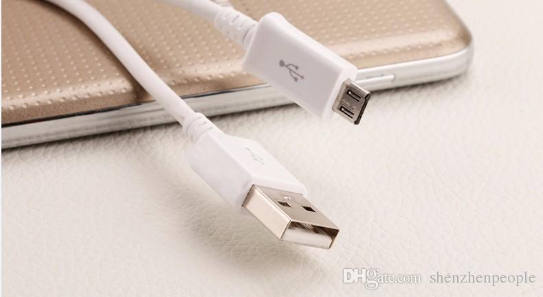 Cable micro USB Cable de carga del teléfono móvil 1M USB2.0 Cable de carga de sincronización de datos para Smartphone galaxy S4 S5 HTC Teléfono Android se envía gratis