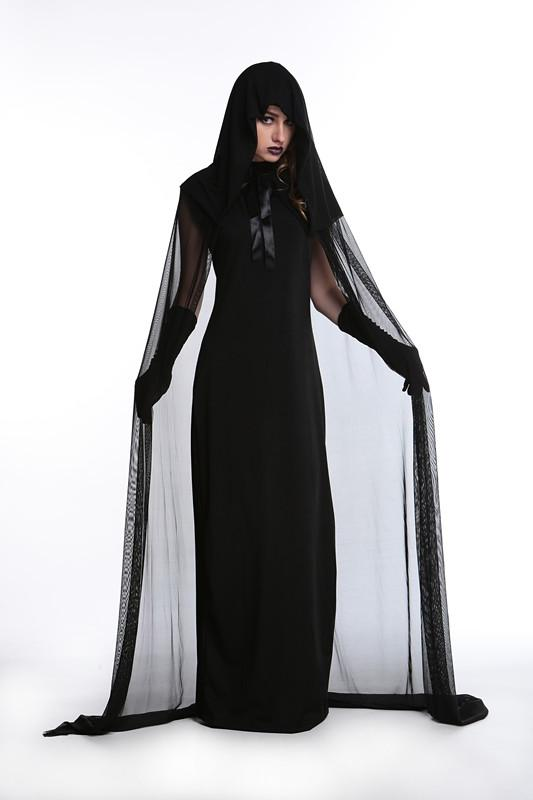 Delightful Gothic Witch Halloween Costume Sorceress Costume Adult Witch Fancy Dress  Witch Wicked Cosplay Scary Costumes A Team Costumes Cheap Group Costumes  From ...