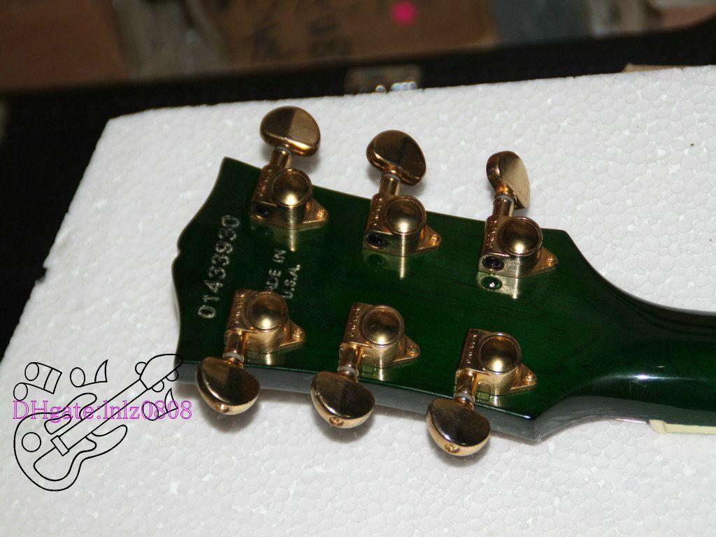 Chitarra elettrica verde di nuovo arrivo Chitarre all'ingrosso Chitarra Strumenti musicali di alta qualità
