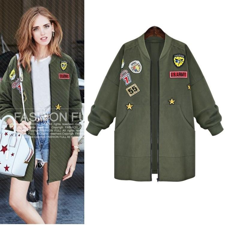 Plus Size 5xl Army Green Bomber Jacket Women 2016 New Fashion ...