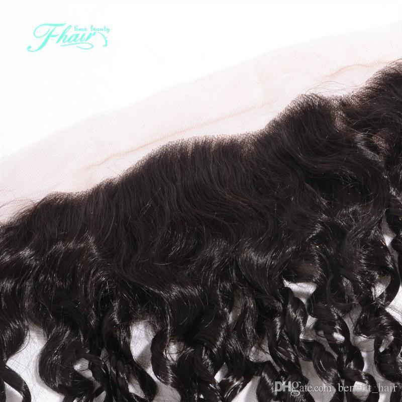 Beleza Cabelo Brasileiro Encaracolado Profundo Lace Frontal Encerramento Mão-Amarrado 13x4 Completa E Grosso Orelha A Orelha Profunda Rendas Curly Frontal