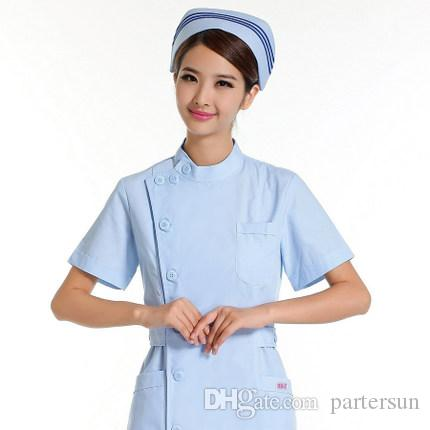 55357f84b9f 2019 Nurse Summer Wear Short Sleeve Pink White Blue Uniform Hospital  Pharmacy Antibacterial Anti Wrinkle HX11 Overalls From Partersun, $18.0 |  DHgate.Com