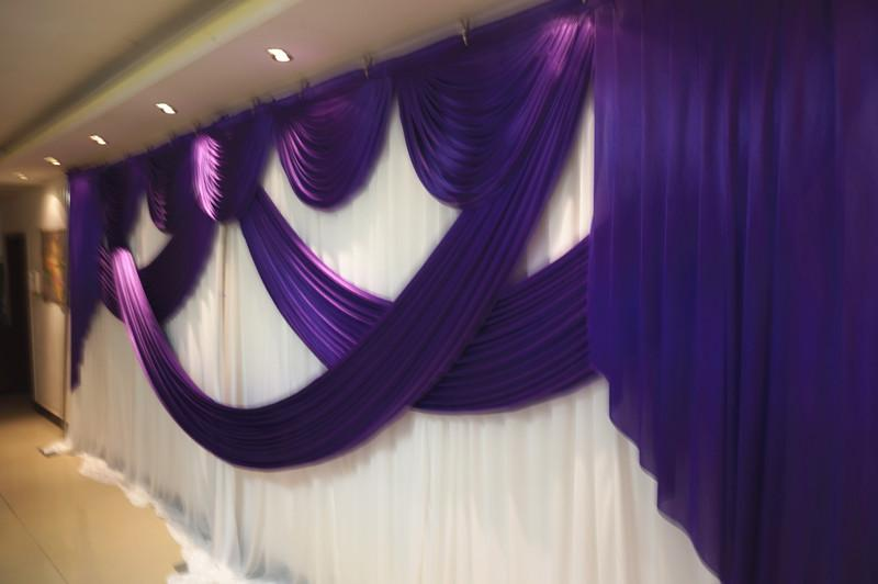 Swags de styliste de mariage de 6 m de large pour la toile de fond de célébration du rideau de célébration
