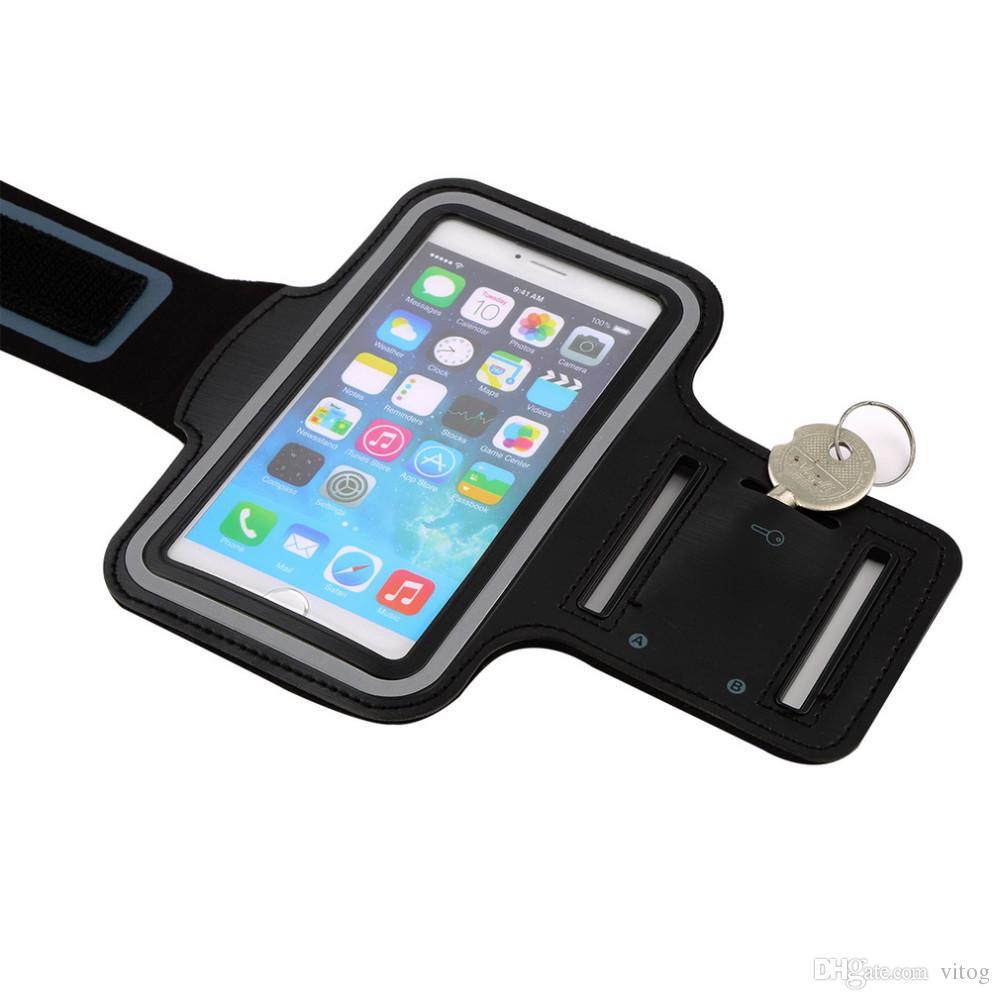 Cas de brassard de téléphone portable résistant à l'eau Sport Running Gym Case Étui de brassard étanche Pounch Pour iPhone cas iPhone x Huawei Samsung