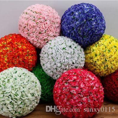 free shipping artificial kissing flower ball Wedding Centerpiece ...