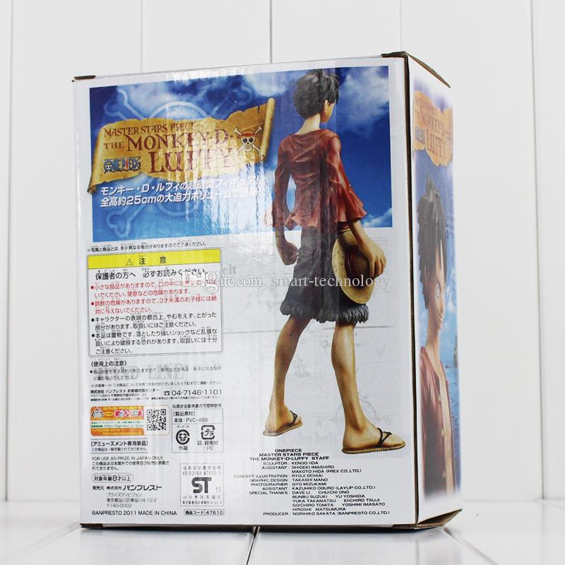 Uma peça brinquedos Monkey D Luffy figura de ação PVC figura modelo brinquedo 25 centímetros de varejo frete grátis