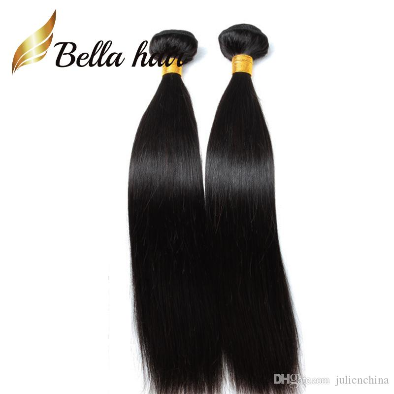 Solo para EE. UU. Cabello de donante de trenza más barato 100 Extensiones de cabello humano indio 12-14-16-18-20-20-22-24Inch para mujeres negras Bella Hair 3/4 / por lote