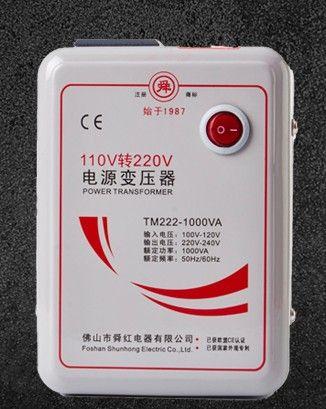 Transformador de potencia de 110V a 220V 1000W Voltaje cambiador real 500W convertidor de voltaje potencial transformador de 500W a continuación electrodomésticos