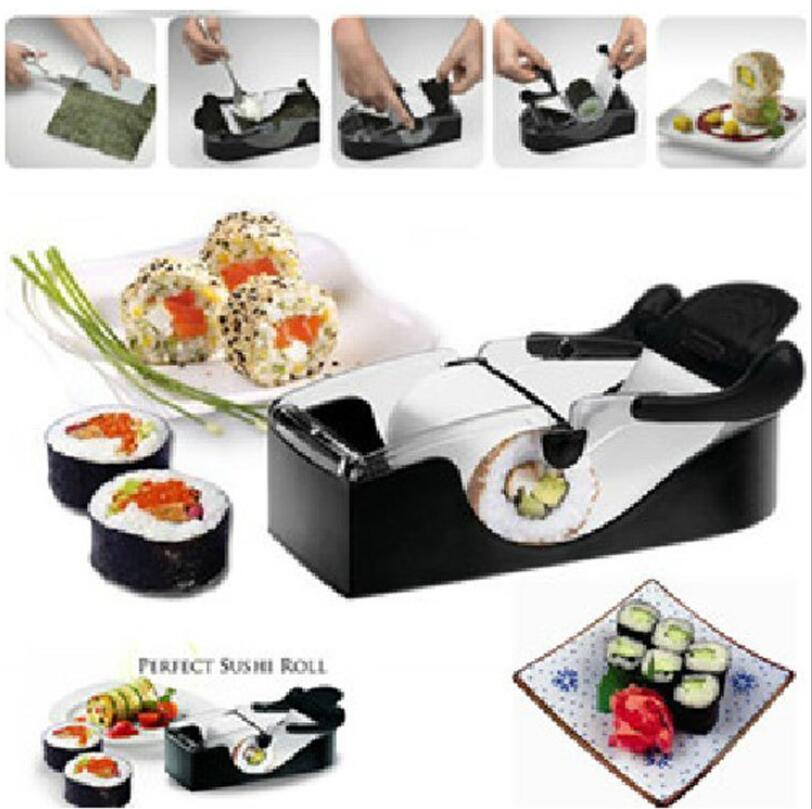 SuShi Maker Neueste DIY Sushi Rollschneider Perfekte Maschinenrolle Magische Reisform Maker Küche Zubehör Werkzeuge Gadgets 50 Stücke