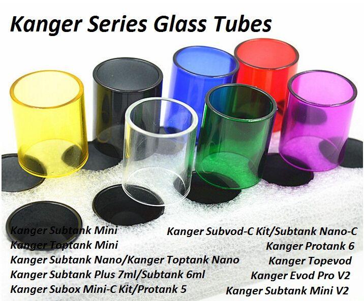 Replacement Glass Tubes for Kanger Subtank Toptank Mini Nano Plus Subox Mini C-Kit Subvod C-Kit Protank 5 6 Topevod Evod Pro Tank