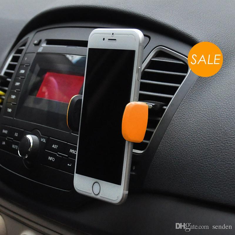 Kickstand universal suporte do telefone do carro de ventilação de ar do carro montar 360 girar suporte pegajoso ajustável para gps celular telefone do carro suporte de suporte de saída