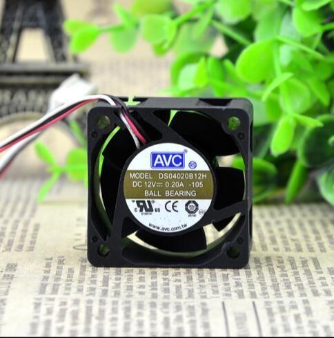AVC DS04020B12H 4CM 40*40*20 12V 0.20A 1U server 3 line switch fan