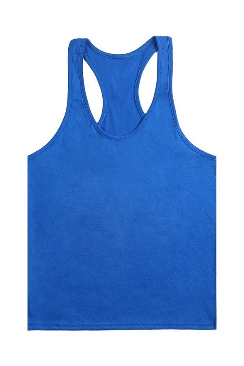 Nuevo 2017 en blanco sin impresión Gym Singlets hombres Tank Tops Culturismo Fitness hombres gimnasio Stringer Tank Top ropa deportiva