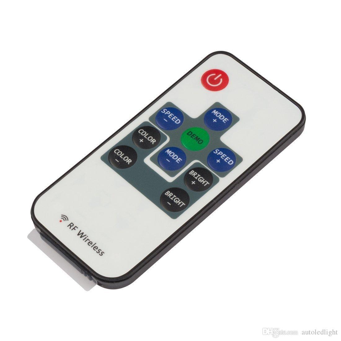 Contrôleur 10Key LED contrôleur Mini RF Télécommande sans fil Mini gradateur pour bandes RVB 5050/3528 LED
