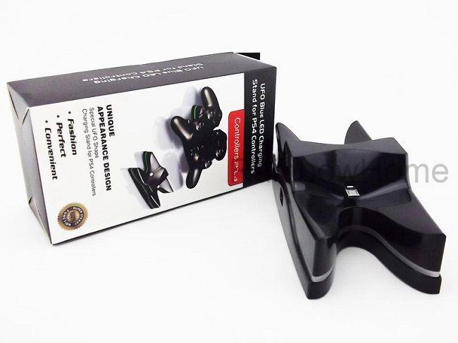 Supporto stazione di ricarica doppia USB Dock Station controller wireless PS4 Caricabatterie UFO PlayStation 4 Flash LED Colorato
