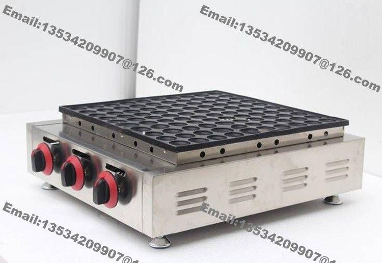 Ücretsiz Kargo 100-hole Ticari Kullanım Yapışmaz Mini Hollandalı Gözleme Poffertjes Baker Maker Makinası Izgara Demir Kalıp Plaka